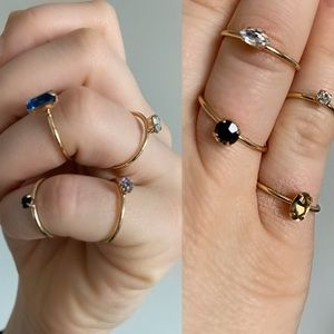 Jewelry - Bejeweled Golden Rings